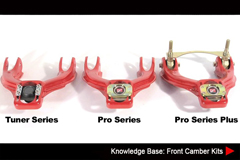 Resources - Knowledge Base: Front Camber Kits